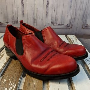 Simple 7.5 red comfort mules clogs womens shoes he